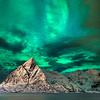Lofoten Islands Green Aurora