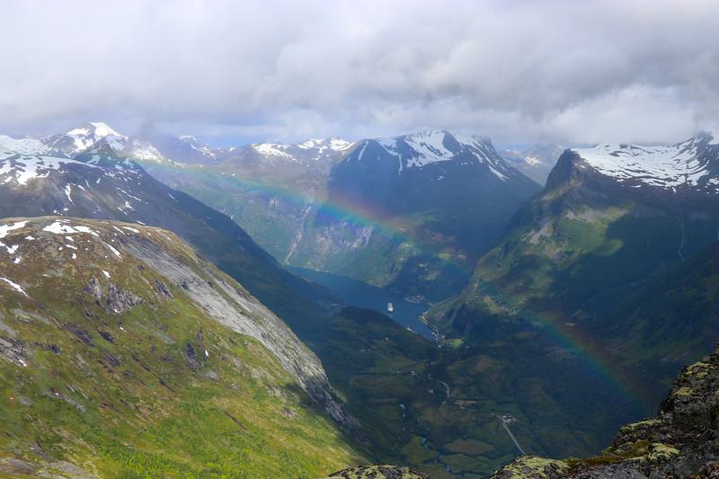Rainbow Over Geirangerfjord