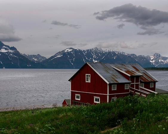 Barn Along A Fjord