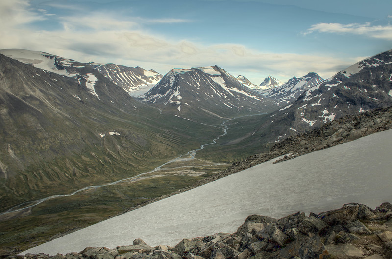 HDR composite photo from the ascent of Galdhöpiggen