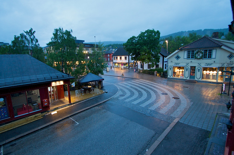 From the second floor of the Rica Victoria Hotel at like 2 AM Lillehammer Norway.