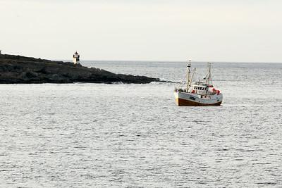 Fishing Vessel entering Båtsfjord, Troms og Finnmark, Norway