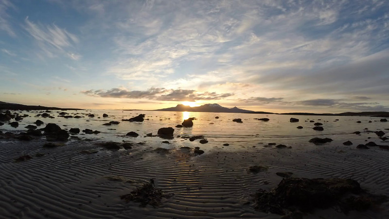 Time Lapse video of Tide and Sunset from Løpsvika, Bodø