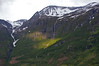Arnesdalen Oldedalen Valley surrounded by Jostedalsbreen National Park Norway.