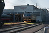 The depot at Marienborg (on the outskirts of Trondheim) sees CargoNet El16 2202 basking in the early morning sun on 13 August 2012