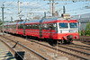 Oslo suburban unit 69607 heads this service at  Lillestrom on 14 August 2012