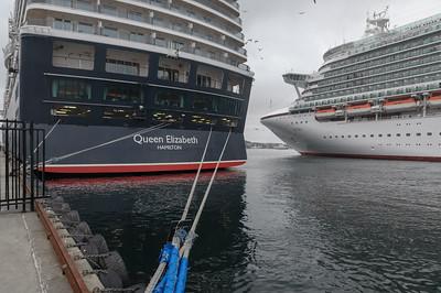 Die Azura war am Sonntag das grösste Schiff. Aber die Queen Elisabeth war schöner.