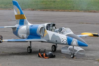 Dieses Modellflugzeug sah in der Luft unglaublich echt aus. Auch der Geräuschpegel war fast echt.
