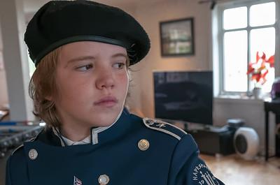 Schon um 0710 hatte Richard seinen ersten Auftritt. Der Korps hat die Nachbarschaft mit Musik geweckt.