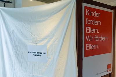 Die Wahlkabine des Wahlkreises 300 (Stavanger). Leider konnten wir keinen Direktkandidaten nach Berlin entsenden.