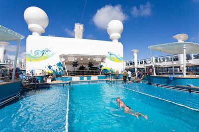 Norwegian Breakaway pool deck