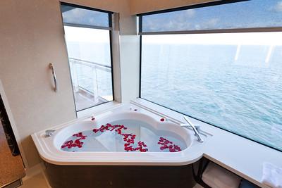 Norwegian Breakaway bath with a view