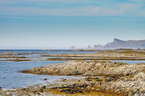 The rocky coast of island Andøya