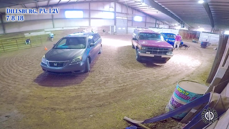 "Vehicle Search #2: ""Arena"" Search, Standard Sample Video, Camera Angle 1 of 2, L2V EST"