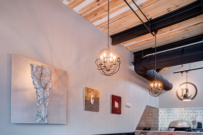Interior view of Nosh restaurant, Rochester, NY. Photo by Brandon Vick, http://www.brandonvickphotography.com/