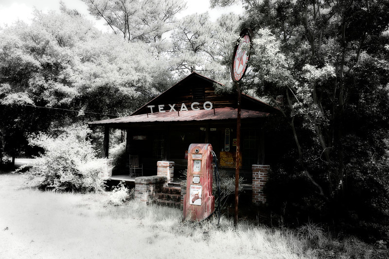 Abandoned vintage Texaco station in South Carolina.
