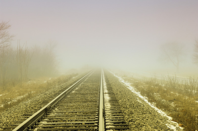 Railroad tracks in central Indiana.