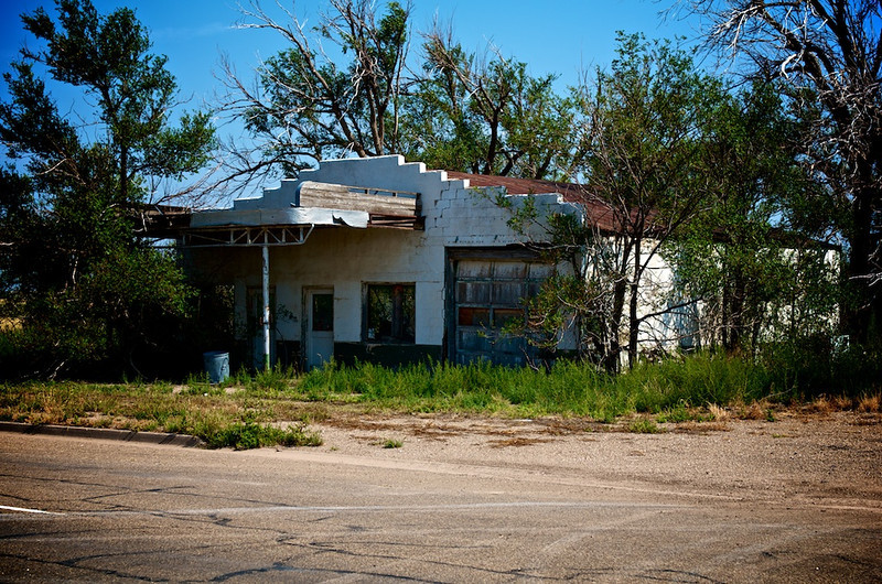 Abandoned gas station