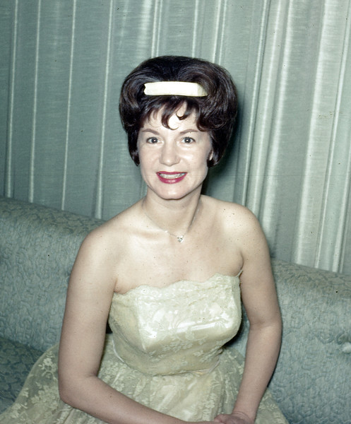 1963, Norma at cocktail hour.