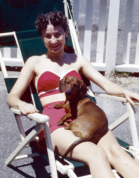 Norm and Duchess; Schenectedy, NY 1954