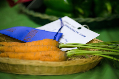 Blue ribbon carrots