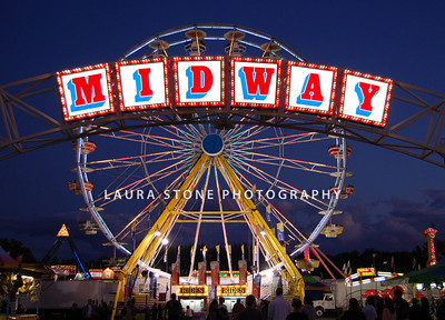 The midway at the Eastern States Exposition (Big E), West Springfield, Massachusetts.