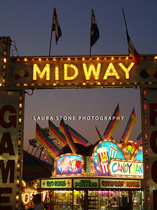 The midway at the Hebron Fair, Hebron, Connecticut
