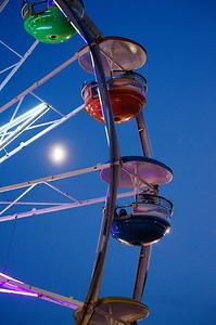 Ferris wheel moon