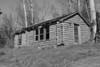 Vintage Log Cabin (B&W)