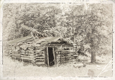 Vintage Photo Look of Old Cabin