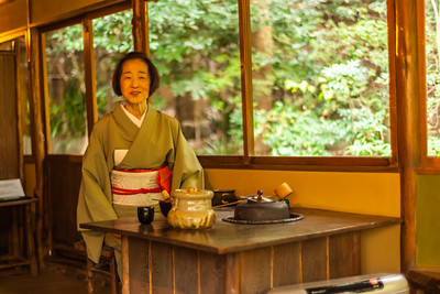 Tea master of Happo-en