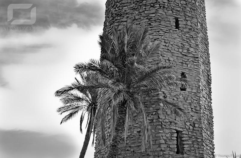 Figuig, Minaret polygonal, Ksar Loudaghir. Epoque Merinide (?)