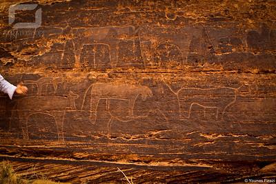 Peintures rupestres, entre Figuig et Ich