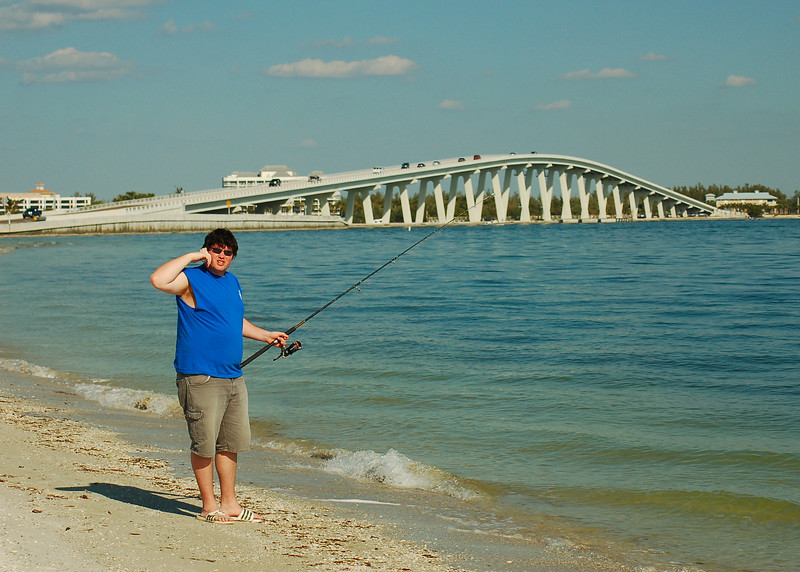 Matt Fishing at the Sanibel Causeway
