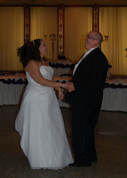 Kirby & Greg dancing at their reception.