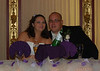 Kirby and Greg at the start of the reception.