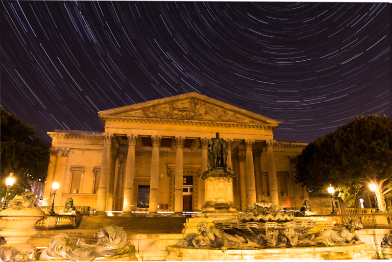 Victoria Rooms under a Star Trail