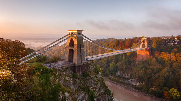 Clifton Suspension Bridge at sunrise