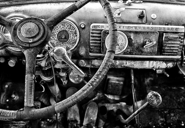 Old GMC Truck in B&W