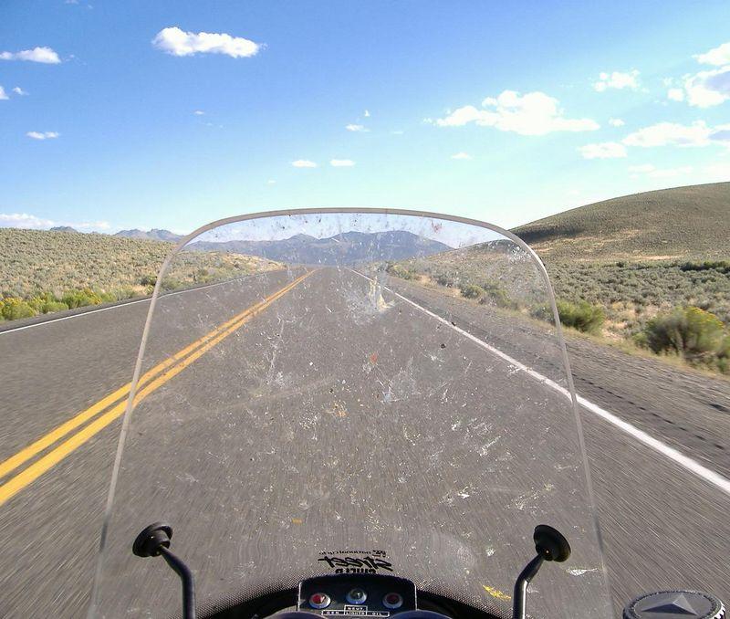 Blasting south on Highway 93, northern Nevada.
