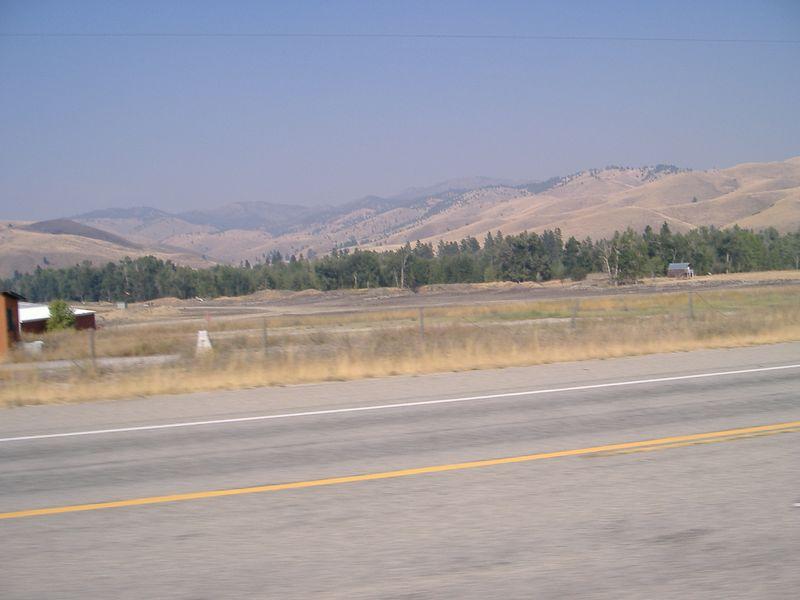 Lots of smoke!  Highway 93 near the MT/ID border (Montana side).