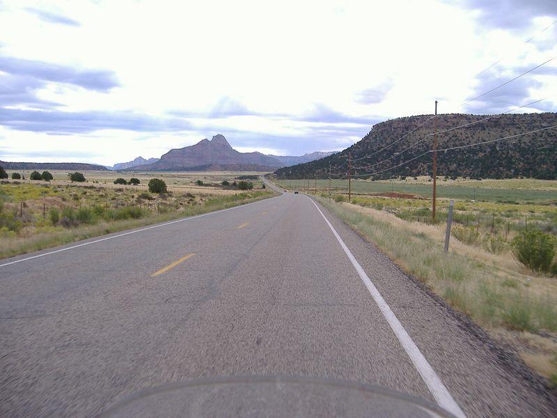 Highway 18, north of St. George, Utah.