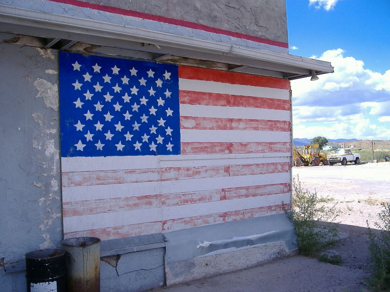 Front of gas station, Panaca, Nevada.