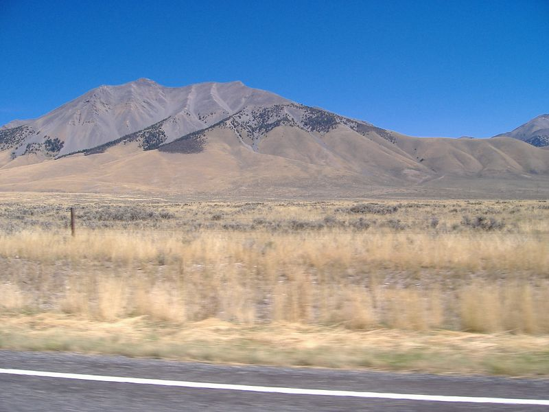 Mountains along highway 93, between Challis and Butte City, Idaho.