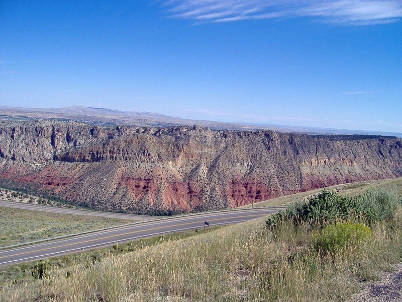 Descending to Flaming Gorge Rec Area. Highway 191
