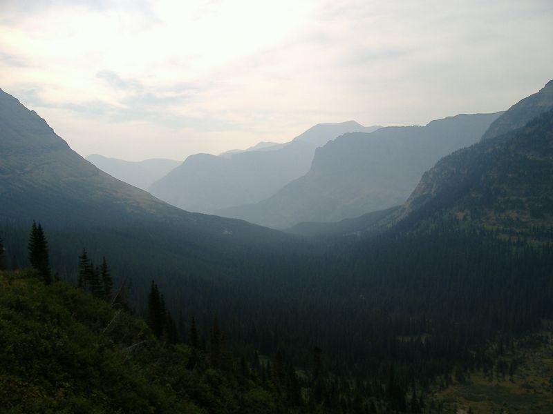 Smoky vista from Iceberg Lake Trail, Glacier National Park, Montana.