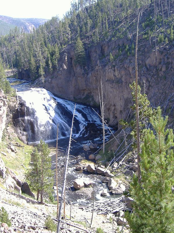 Gibbon Falls, Yellowstone National Park.
