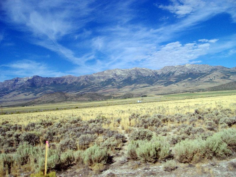 Ruby Range, from Highway 93, through Clover Valley, Nevada.