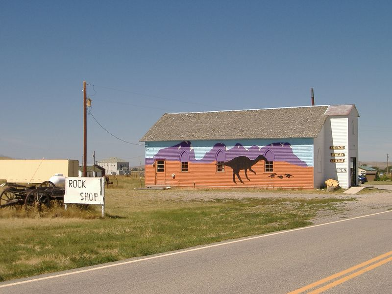 Church-turned-fossil and rock shop. :-)<br /> Highway 89, central Montana.
