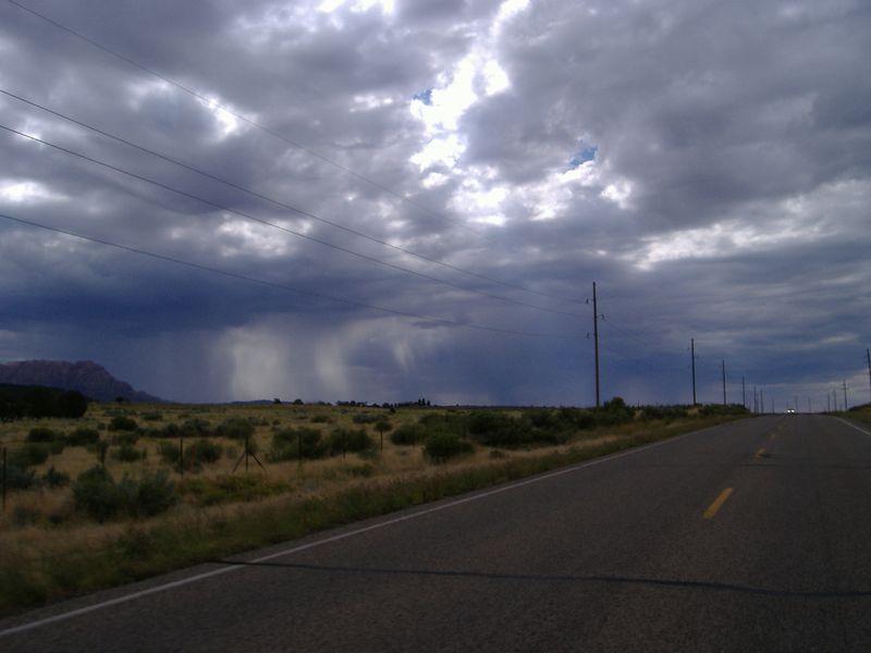 Storm clouds, highway 89A, northern Arizona.